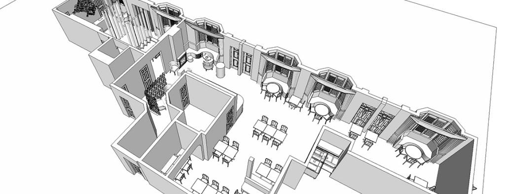 3D Interior design floorplan - Michele Longoni Interiors