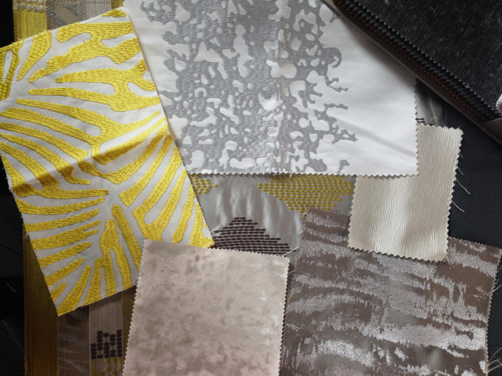 Curtains moodboard and samples
